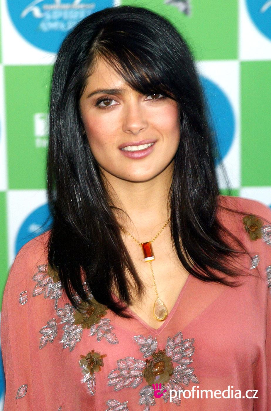 Prom hairstyle - Salma Hayek - Salma Hayek