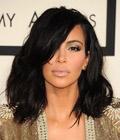 Fryzury gwiazd - Kim Kardashian