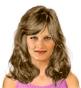 Fryzura [3117] - codzienna, włosy  średnie falowane