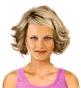 Fryzura [3080] - codzienna, włosy średnie falowane
