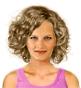 Fryzura [3119] - codzienna, włosy średnie kręcone