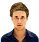 Hairstyle [8639] - man hairstyle, medium hair straight