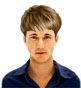 Hairstyle [8640] - man hairstyle, medium hair straight