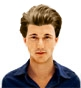 Hairstyle [8617] - man hairstyle, medium hair straight