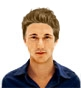 Hairstyle [9763] - man hairstyle, medium hair straight