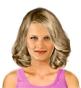 Fryzura [1754] - codzienna, włosy średnie falowane