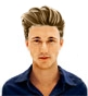 Hairstyle [8839] - man hairstyle, medium hair straight