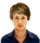 Hairstyle [8838] - man hairstyle, medium hair straight