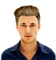 Hairstyle [8797] - man hairstyle, long hair straight