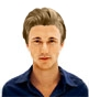 Hairstyle [8958] - man hairstyle, medium hair straight