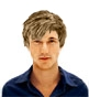 Hairstyle [944] - man hairstyle, medium hair wavy