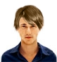 Hairstyle [2061] - man hairstyle, short hair straight