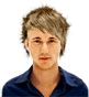 Hairstyle [2564] - man hairstyle, short hair straight