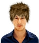 Hairstyle [3140] - man hairstyle, medium hair straight