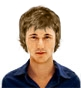 Hairstyle [2888] - man hairstyle, short hair wavy