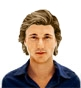 Hairstyle [1033] - man hairstyle, medium hair wavy