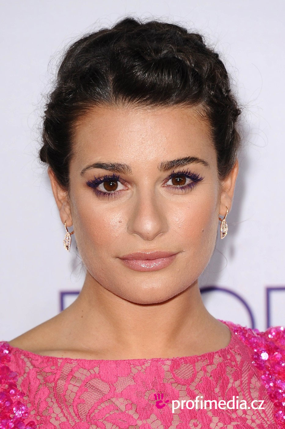 Lea michele coiffure happyhair for Miroir virtuel coiffure