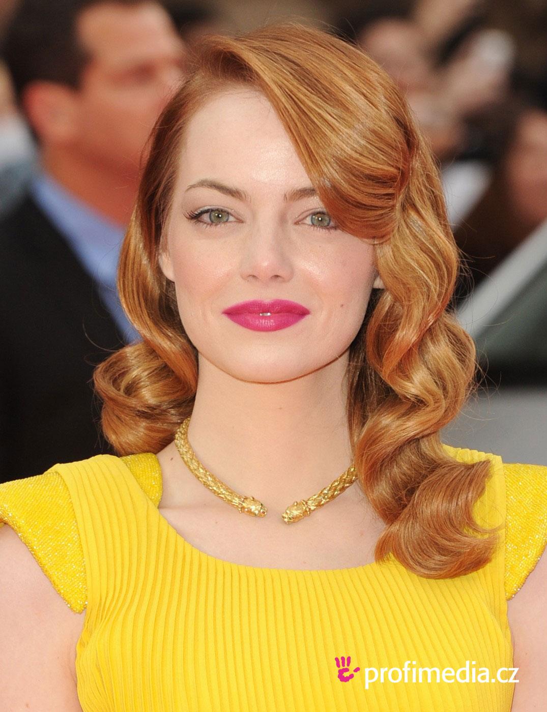 Emma stone coiffure happyhair for Miroir virtuel coiffure