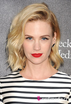 Účesy celebrit - January Jones