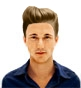 Hairstyle [8959] - man hairstyle, medium hair straight