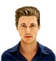 Hairstyle [7494] - man hairstyle, short hair straight