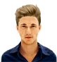 Hairstyle [8315] - man hairstyle, medium hair straight