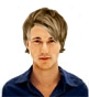 Hairstyle [7464] - man hairstyle, medium hair straight