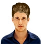 Hairstyle [6580] - man hairstyle, medium hair straight