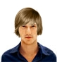 Hairstyle [6880] - man hairstyle, medium hair straight