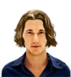 Hairstyle [6878] - man hairstyle, long hair straight