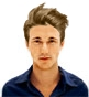 Hairstyle [8638] - man hairstyle, medium hair straight