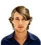 Hairstyle [942] - man hairstyle, medium hair wavy
