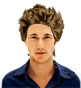 Hairstyle [5398] - man hairstyle, medium hair straight
