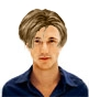 Hairstyle [222] - man hairstyle, long hair straight