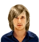 Hairstyle [227] - man hairstyle, long hair straight