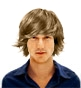 Hairstyle [228] - man hairstyle, long hair straight