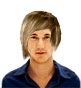 Hairstyle [232] - man hairstyle, long hair straight