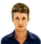 Hairstyle [7283] - man hairstyle, medium hair straight