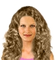 Hairstyle [1674] - everyday woman, long hair curly