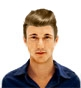 Hairstyle [7282] - man hairstyle, medium hair straight