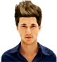 Hairstyle [7340] - man hairstyle, medium hair straight