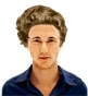 Hairstyle [9304] - man hairstyle, medium hair wavy