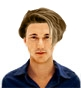Hairstyle [8234] - man hairstyle, medium hair straight
