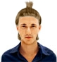 Hairstyle [9701] - man hairstyle, medium hair straight