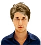 Hairstyle [7793] - man hairstyle, medium hair straight