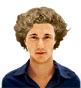 Hairstyle [7707] - man hairstyle, long hair curly