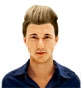 Hairstyle [9540] - man hairstyle, medium hair straight