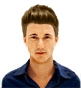 Hairstyle [8595] - man hairstyle, medium hair straight