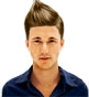 Hairstyle [8837] - man hairstyle, medium hair straight
