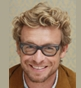 Hairstyle [8438] - Simon Baker, medium hair curly